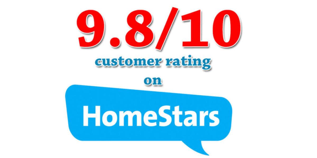 North Design Windows Homestars Customer Rating 9.8/10